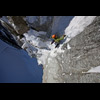 ON THE CRUX M6 PITCH OF SUPERCOULOIR